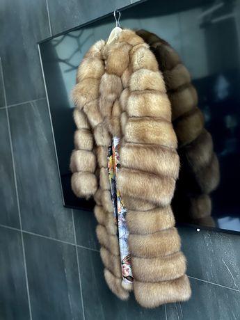 Шуба из канадского соболя с сединой