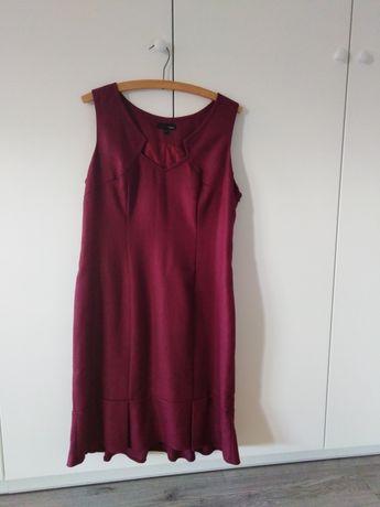 Sukienka XL kolor buraczkowy