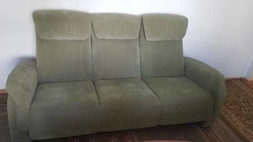Kanapa, sofa oliwkowa zielona