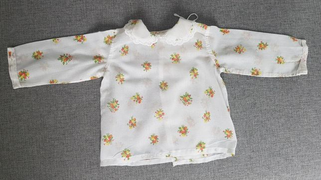 5szt. Batystowe kaftaniki niemowlęce, koszulki. Unikat! Retro! 0-3 m