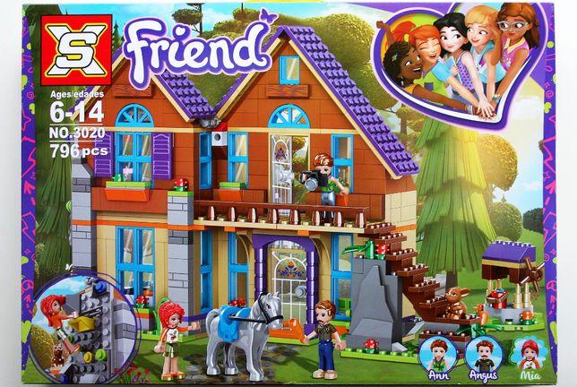 Klocki o jakosci lego friends dom Mii 41369