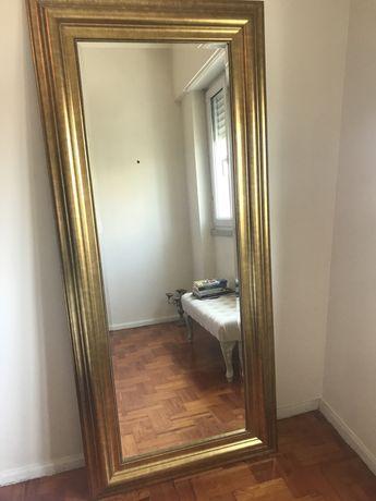 Baixa de preço, agora 100 euros, espelho com moldura dourada IKEA