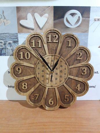 Zegar ścianny dębowy