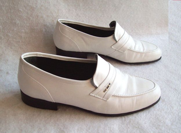 Туфли белые Кожа, стелька 26 см.
