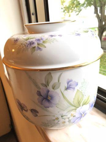 Pote porcelana portuguesa Limoges marcado e numerado