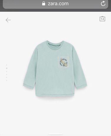 Реглан, футболка для хлопчика, на 2-3 роки, ріст 98. Фірма zara, next
