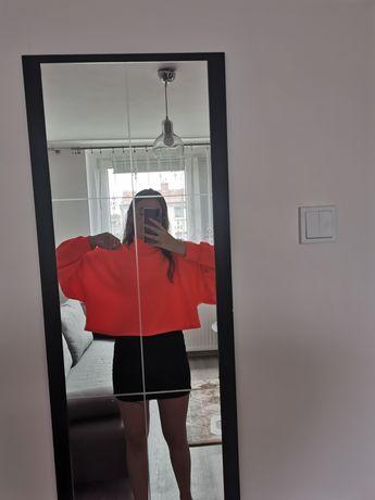 Sweter bershka neonowy pomarańcz