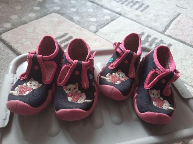 Kapcie buty befado dla bliźniaczek roz 21