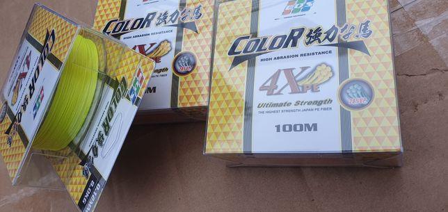 Рыболовный шнур EOS Color 4X 0.12 мм 100m