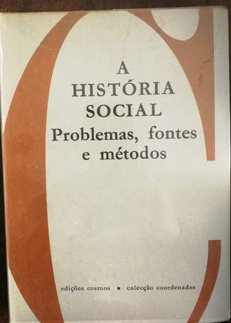 história social, problemas, fontes e métodos, edições cosmos, 1967