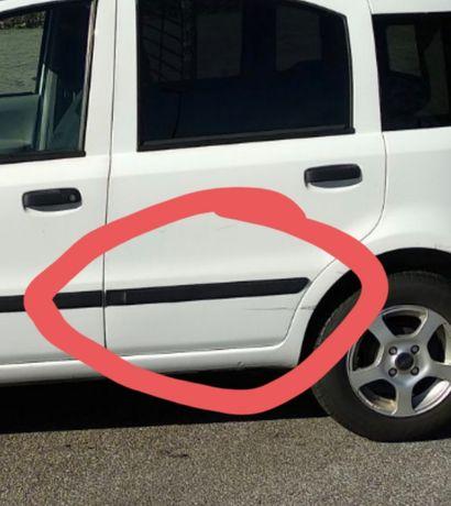 Fiat panda proteção porta traseira esquerda