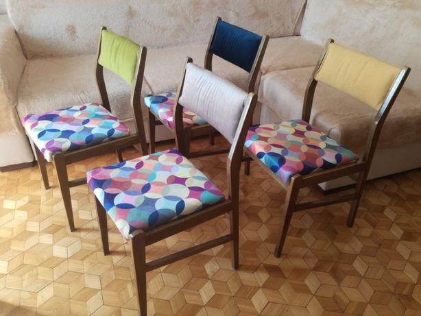 4 krzesła prl po renowacji