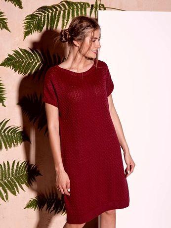 Платье туника крупная вязка оверсайз 44 46 48 M трикотаж