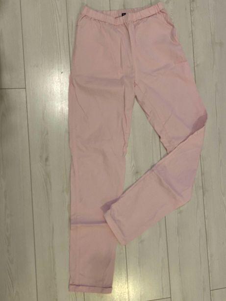 Spodnie damskie pudrowy róż Cubus XL 40 42