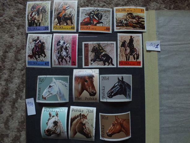 znaczki Fi2075 /1972r.,Fi3042 /1989r.,Polska KONIE ,kasowane Zwierzęta
