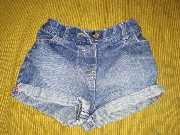 Продам джинсовые шорты George 12-18м
