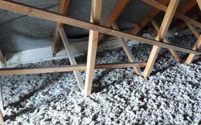 ocieplanie celulozą stropów, skosów, izolacje wdmuchiwane, celuloza