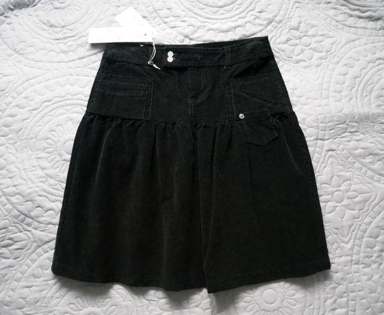 NOWA czarna spódnica - rozmiar M/L - bawełna - bajerancka!
