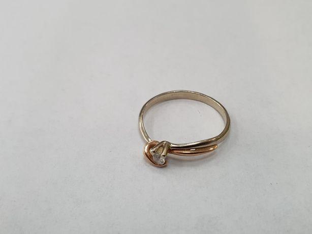 Klasyczny złoty pierścionek damski/ 585/ 1.4 gram/ R12/ 2 kolory