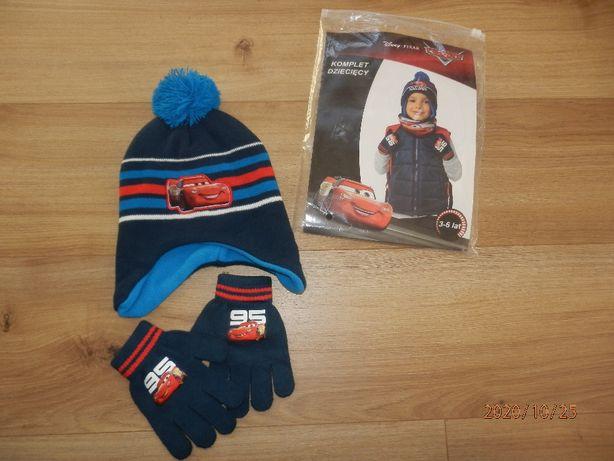 Czapka szalik, rękawiczki, komplet dla chłopca NOWE rozm.92-98