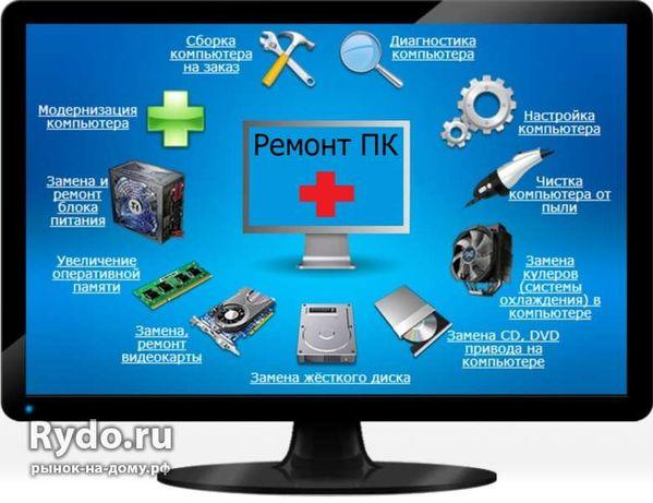 Ремонт комп'ютерів (ПК), ноутбуків