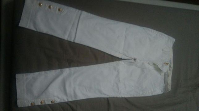 Zara białe dżinsy S
