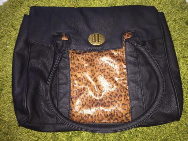 Nowa torebka granatowa i wzór panterki