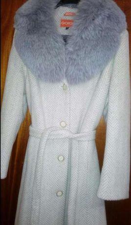 Зимнее пальто р.52, натуральный песец