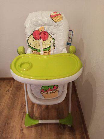 Krzesełko do karmienia cookies baby design, prawie jak nowe
