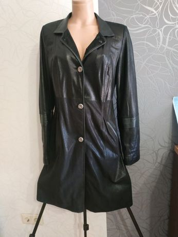 Кожаный френч, кожанный плащ, пиджак, куртка