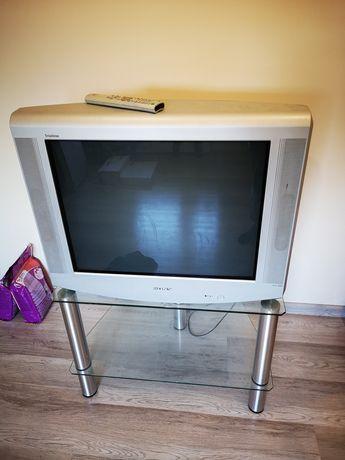 Telewizor LG +stolik szklany