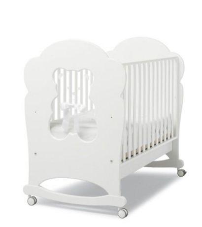 Детская кроватка и комод Erbesi Fiocco White /Italy