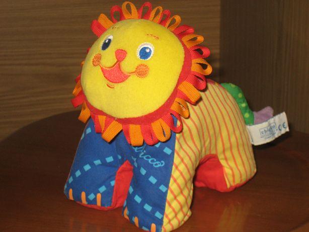 Chicco мягкая игрушка погремушка шуршалка