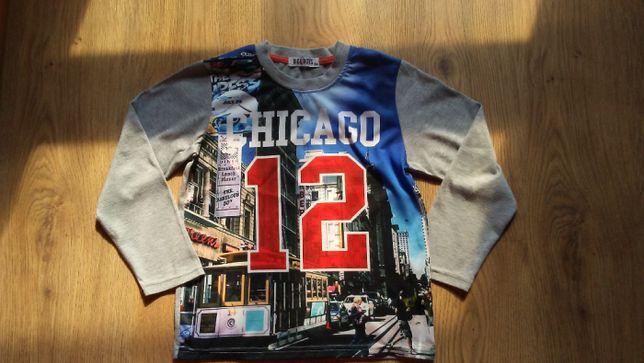 Bluzki chłopięce t-shirt różne fajne r.122/128