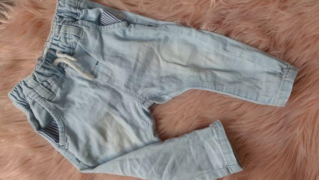 Spodnie jeansy joggery 8kg next