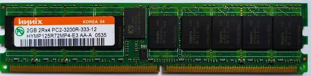 ДДР2 Registered Hynix 2Gb 2Rx4 PC2-3200R-333-12 DDR2-400 HYMP125R72MP4