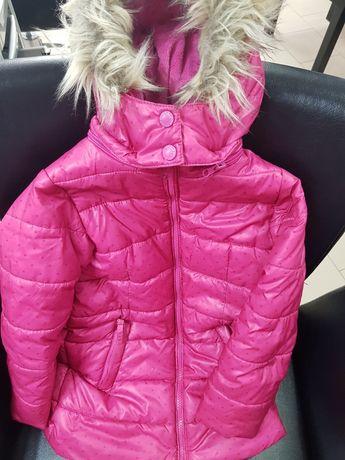 Kurtka zimowa na narty różowa SMYK  Cool club  z kapturem