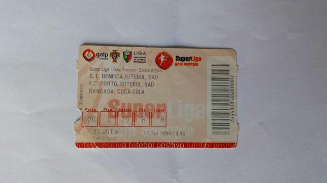 Bilhete Benfica x Porto 2004/2005