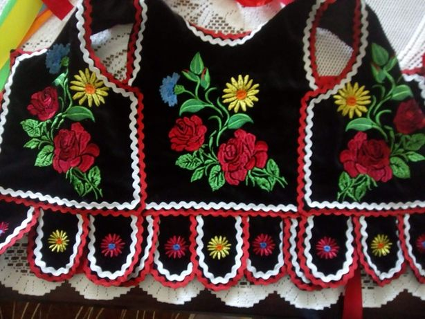 strój krakowski,gorset haftowany 3-9 lat