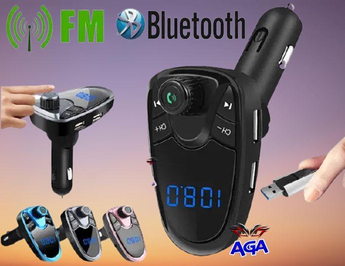 Transmiter Bluetooth FM 2xUSB SD Radio FM LCD MP3
