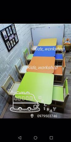 Детский комплект столик и стульчик, детские стульчики, детские столики