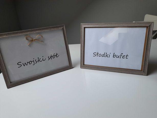 Ramki słodki bufet i swojski stół