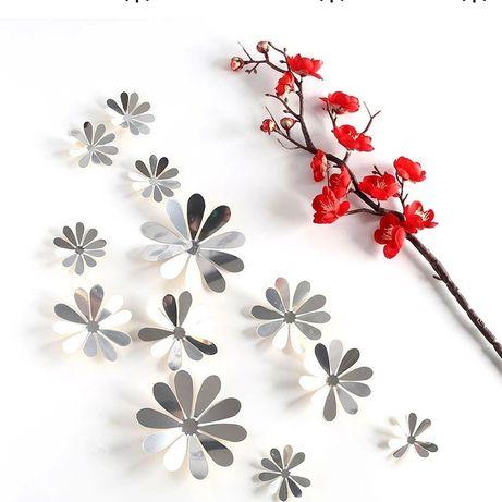 Conjunto de 12 flores em 3D