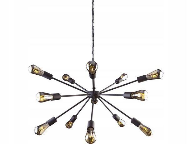 Nowoczesna czarna lampa wisząca ROD 15 żarówek E27 Nowodvorski 9733