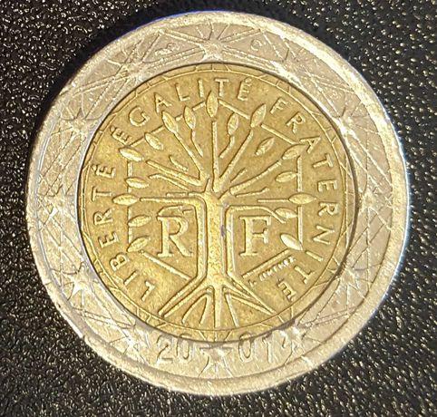 Moeda 2 Euros - França (2001) com ERRO