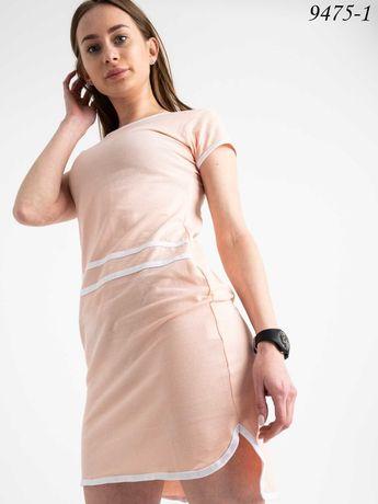 Платье трикотажное розовое на лето на подростка