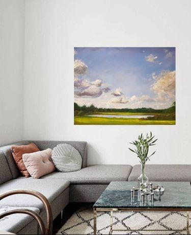 Obraz olejny na płótnie,pejzaż, krajobraz