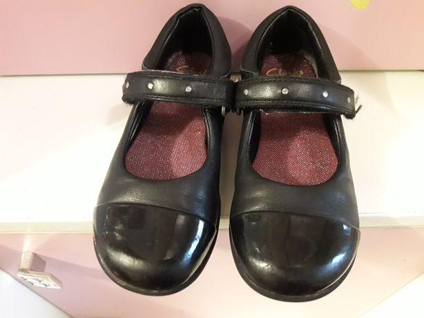 Туфли чёрные 17 см стелька Clarks