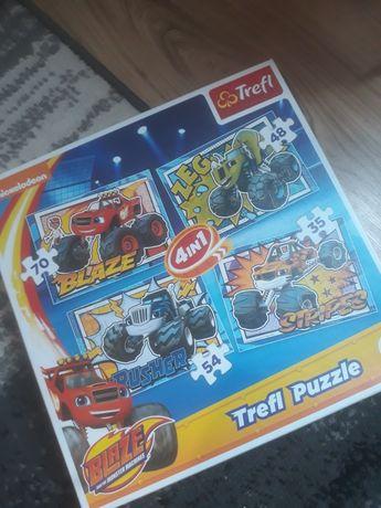 Puzzle 4w1 Blaze i megamaszyny  przeszlo 200 elementów