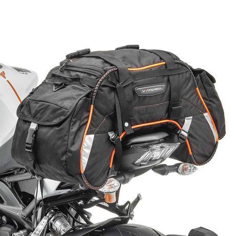 Mala alforjas para moto 35 litros laranja